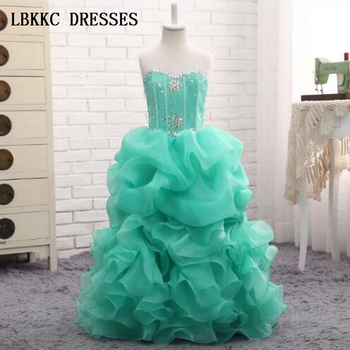 Sweetheart Ball Gown   Flower     Girl     Dresses   Mint Green First Communion   Dresses   For   Girls   Floor Length Graduation   Dresses   Kids