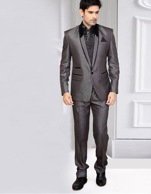 India Custom Made Handsome Slim One Buttons Three Pockets Groom ...