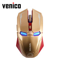 New Iron Man Mouse Wireless Mouse Gaming Mouse Mute Button Silent Click 800 1200 1600 2400DPI