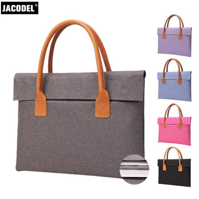 Jacodel Laptop Portable Bag 12 13 14 15 inch Laptop Briefcase Bag for Women Macbook Xiaomi Air Pro Laptop Bag funda Sleeve Case