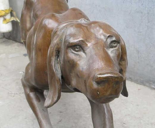 """ZSR 007003 60 """"מערבי אמנות פסל sighthound גרייהאונד איטלקי כלב פסל ברונזה טהור"""