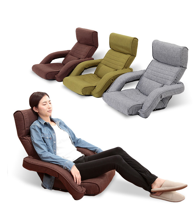 Modern Design Sofas Furniture Upholstered Chaise Lounge Armchair Floor Seating Modern Leisure Foldable Recliner Daybed Arm Chair modern floor leisure chair brown color portable floor foldable recliner lounge upholstered modern fashion leisure sofa chair
