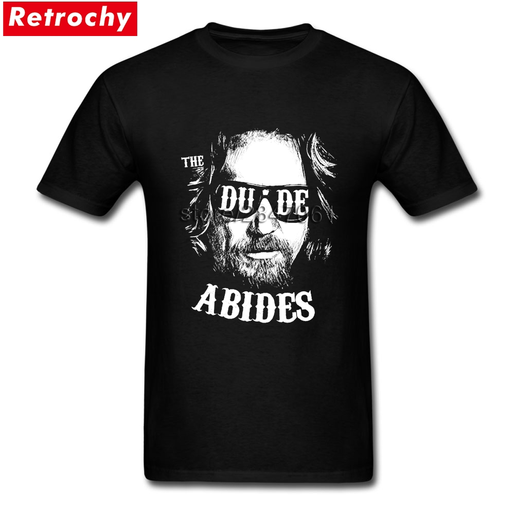 The Dude Abides The Big Lebowski T Shirt Homme Vintage