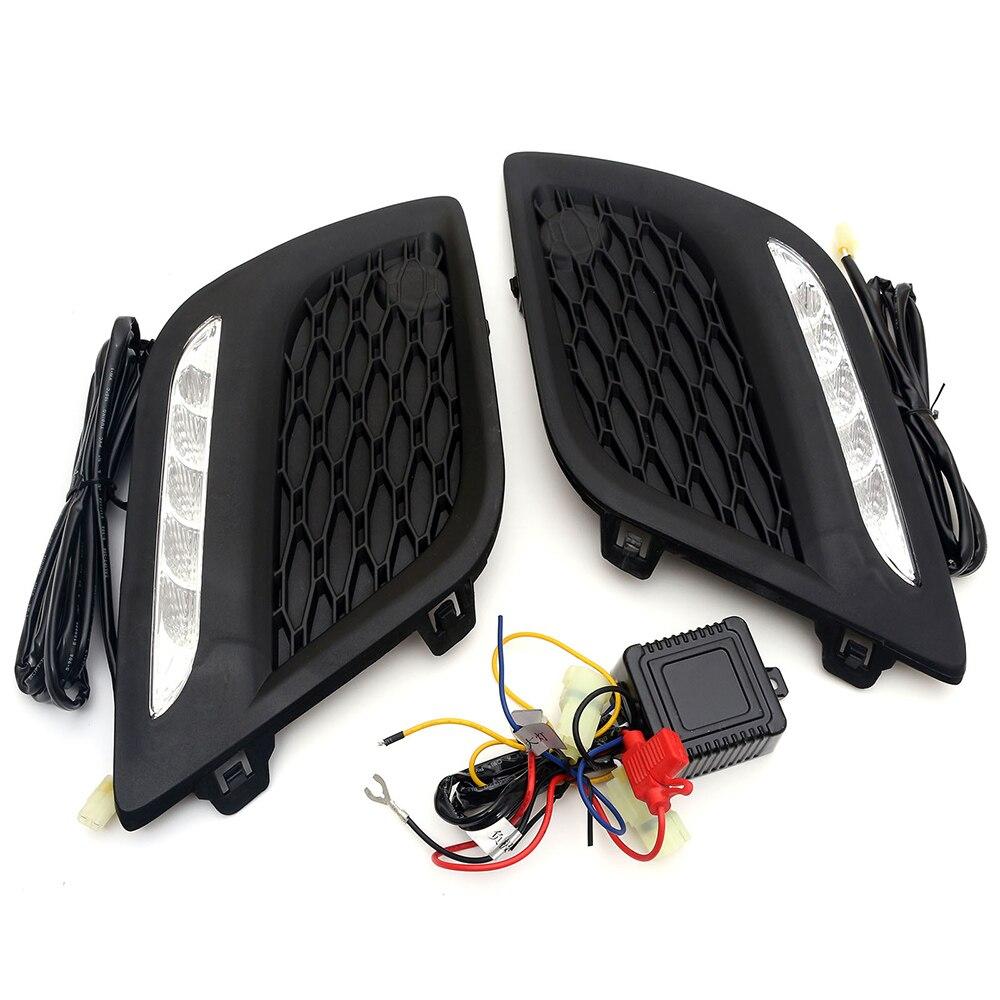NOVSIGHT Auto LED DRL Daytime Running Light Driving Fog Lamp Light Source White 6000 7000K for VOLVO XC60 2014 D20