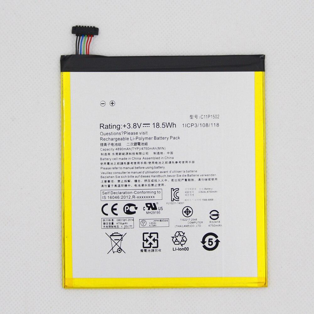 4890mah Tablet Battery C11P1502 For ASUS Zenpad 10 Z300C Z300CL Z300CG P023 P01T 10.1 4890mAh Li-Polymer Replacement Batteria