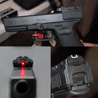 Greenbase tactical glock laser vista traseira vermelho laser visando ajuste airsoft glock 17 22 23 26 27 28 31 32 33 34 35 37