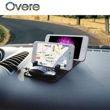Overe 1Set Car parking card Phone stand Auto Non-slip mat For Mercedes W205 W203 Volvo XC90 S60 XC60 V40 Alfa Romeo 159