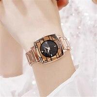 Women's Watches New Fashion Ladies Watches For Women Bracelet Watch Women Luxury Montre Femme Square Clock Saat With Watch Box