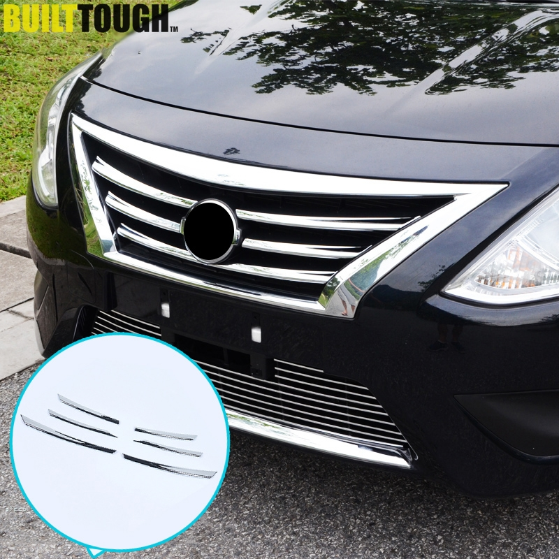 2016 Nissan Versa Exterior: Chrome Front Mesh Grille Cover Trim For Nissan Latio