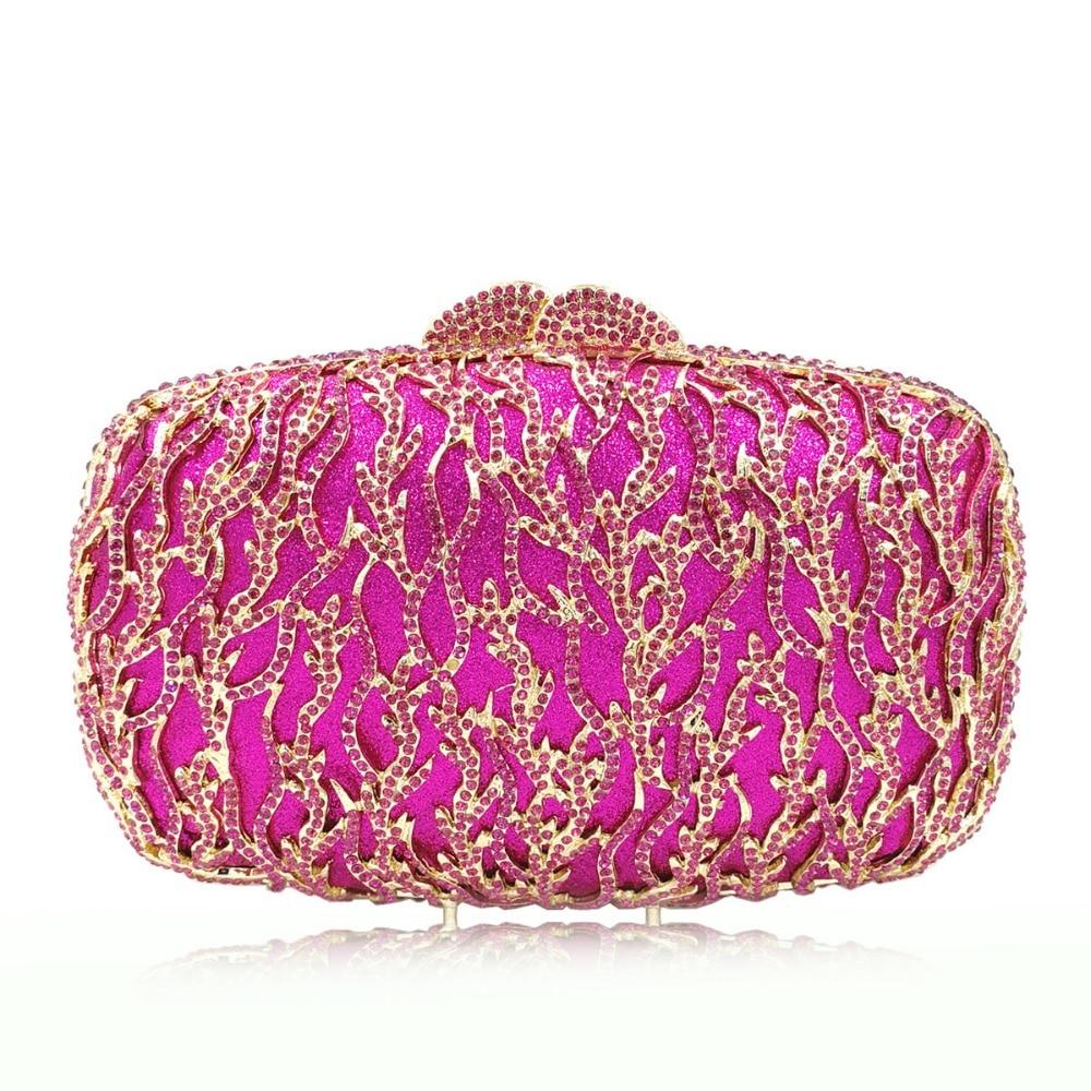 Ladies Designer Brand Diamond  Large Lip Evening Bag Wedding Clutch Bag