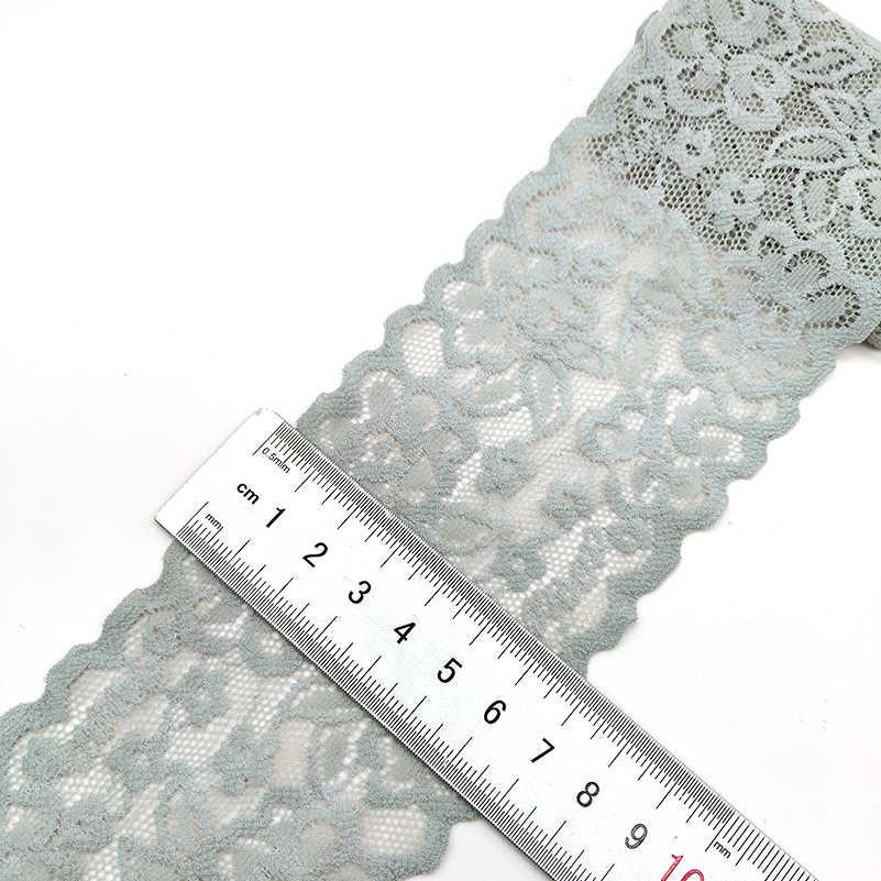 높은 품질 1 야드 꽃 패턴 탄성 레이스 패브릭 리본 레이스 트림 리본 diy 공예 패브릭 7 cm/2.7in 너비 아프리카 직물
