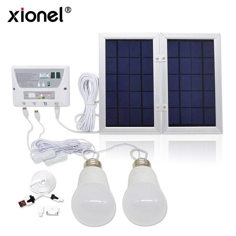 Contrôleur portatif de lumière d'énergie de panneau solaire multifonctionnel de Xionel pour le Camp extérieur de jardin à la maison, système de banque de chargeur solaire
