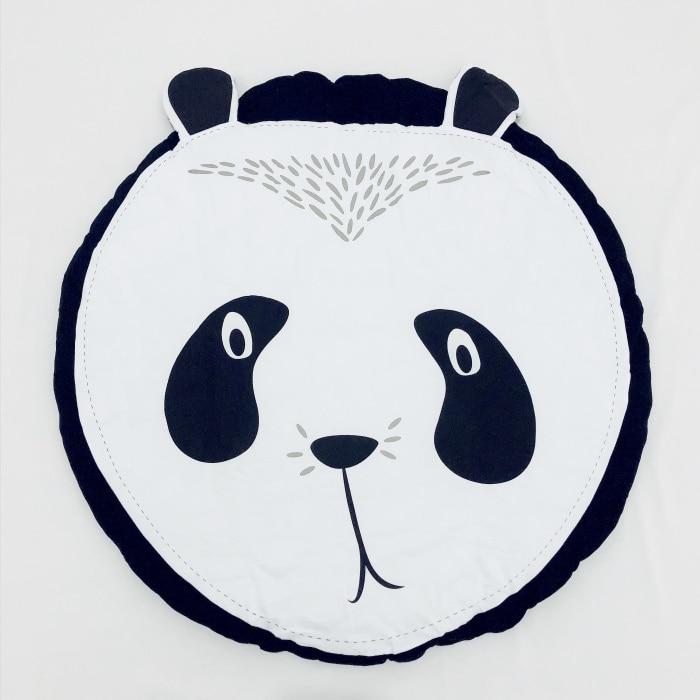 95 см детская игра коврики круглый коврик, мат хлопок Лебедь Ползания одеяло пол ковер для детской комнаты украшения INS подарки для малышей - Цвет: Panda 95cm