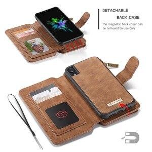 Image 3 - Pour iPhone 11 étui portefeuille 2 en 1 détachable magnétique housse en cuir pour iPhone 12 Pro Max 12 XR SE 2020 XS 7 7plus 8 6S