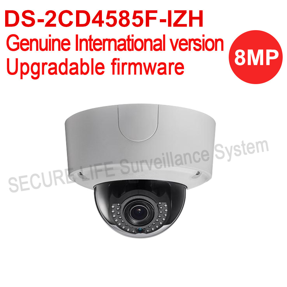 Free shipping HIKVISION English version DS-2CD4585F-IZH 4K Smart Outdoor Dome cctv ip Camera POE 8MP Audio heater PoE IP66 free shipping english version ds 2cd4565f iz 6mp smart ip outdoor dome camera network ip camera