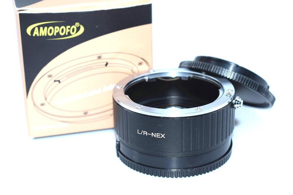 Adaptateur de vitesse de réducteur de focale de LR-NEX pour l'objectif de montage Leica L/R pour Sony NEX-VG900 NEX-VG30 FS700 NEX-EA50