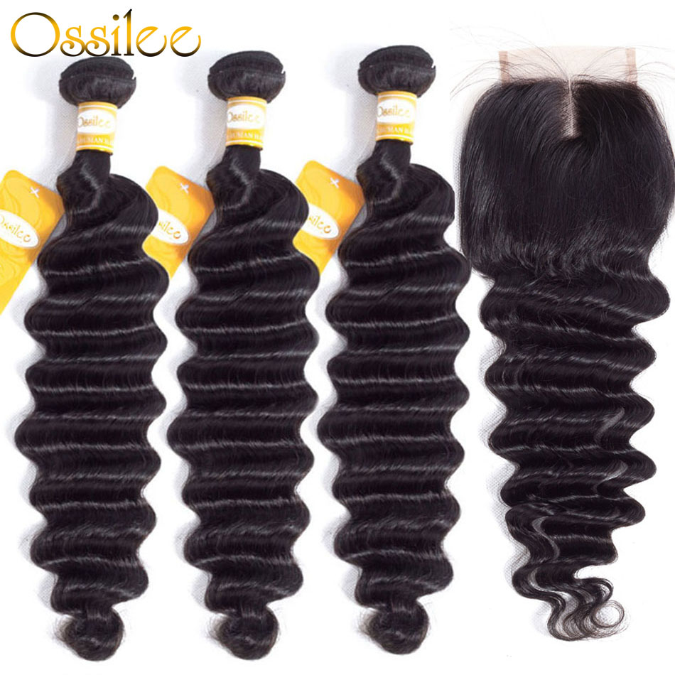 Ossile Loose Deep Wave Bundles with Closure