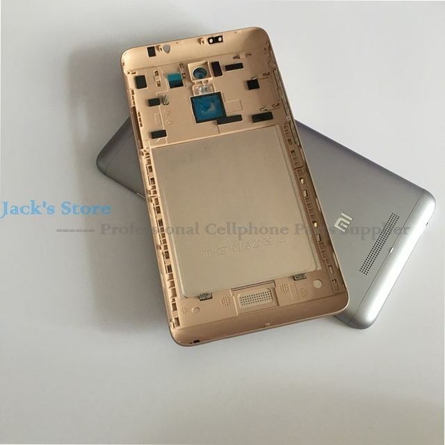 Original for Xiaomi Redmi Note 3 Back Battery Cover NOTE 3 Pro Door Housing + Side Buttons + Camera Flash Lens Replacement