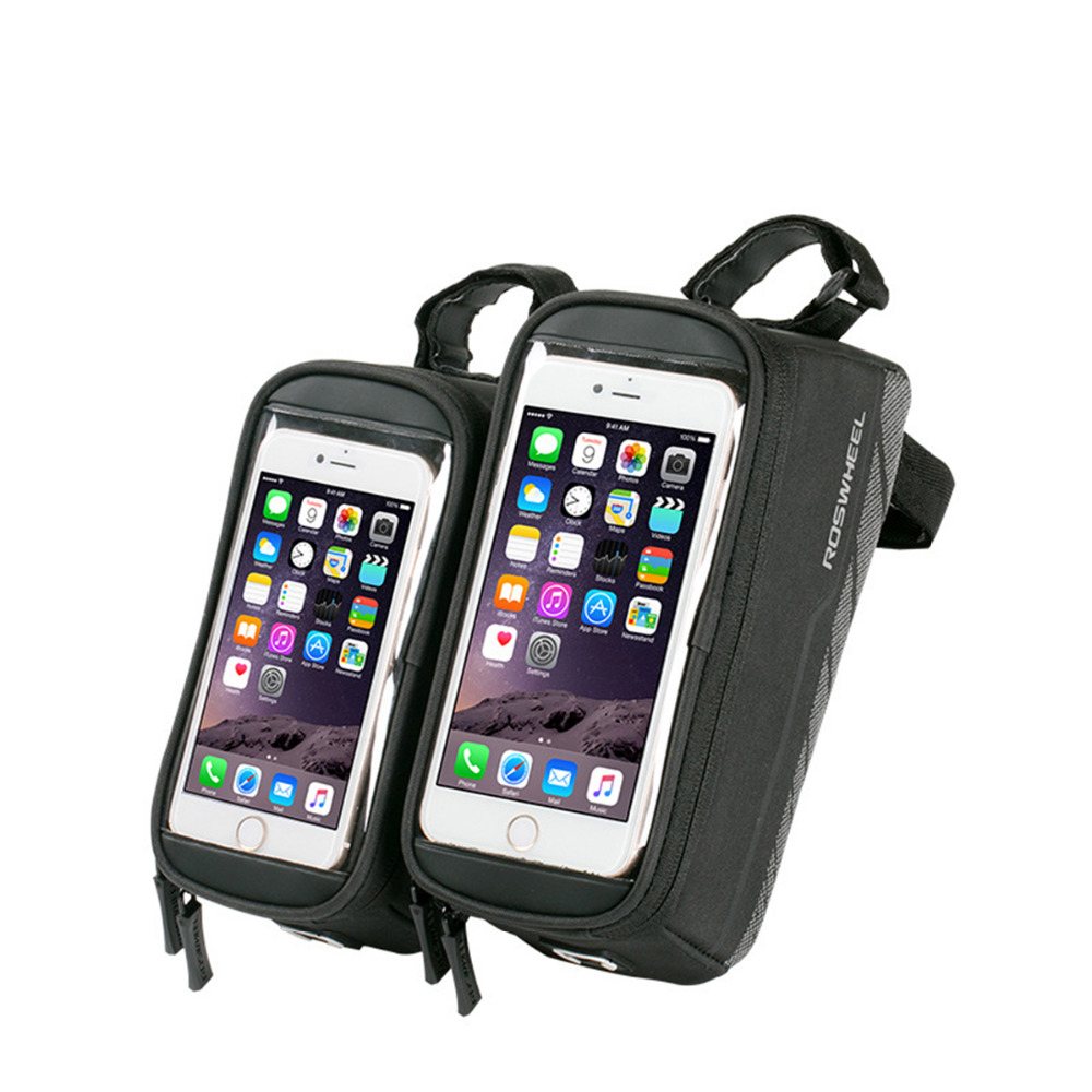 5.7 Inch MTB Bike Bag Accessories Bicycle Front Bag Waterproof Cycling Phone Bags Basket Pannier Bycicle Phone Case
