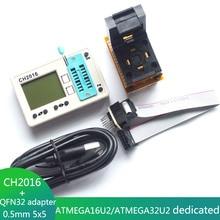 CH2016 Intelligent High Speed USB Programmer+QFN32 adapter WSON32 DFN32 MLF32 for ATMEGA16U2 ATMEGA32U2 Programmer
