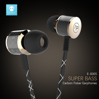 New Metal Headphone Super Earphones Bass Volume Control With Mic Headsets For All Mobile Phone Mp3