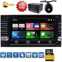 6.2 ''Digitale LCD Monitor Dubbele DIN in Dash Auto FM/AM Dvd-speler Stereo Bluetooth USB Sd Radio 2 DIN + Auto Camera + Remote controle