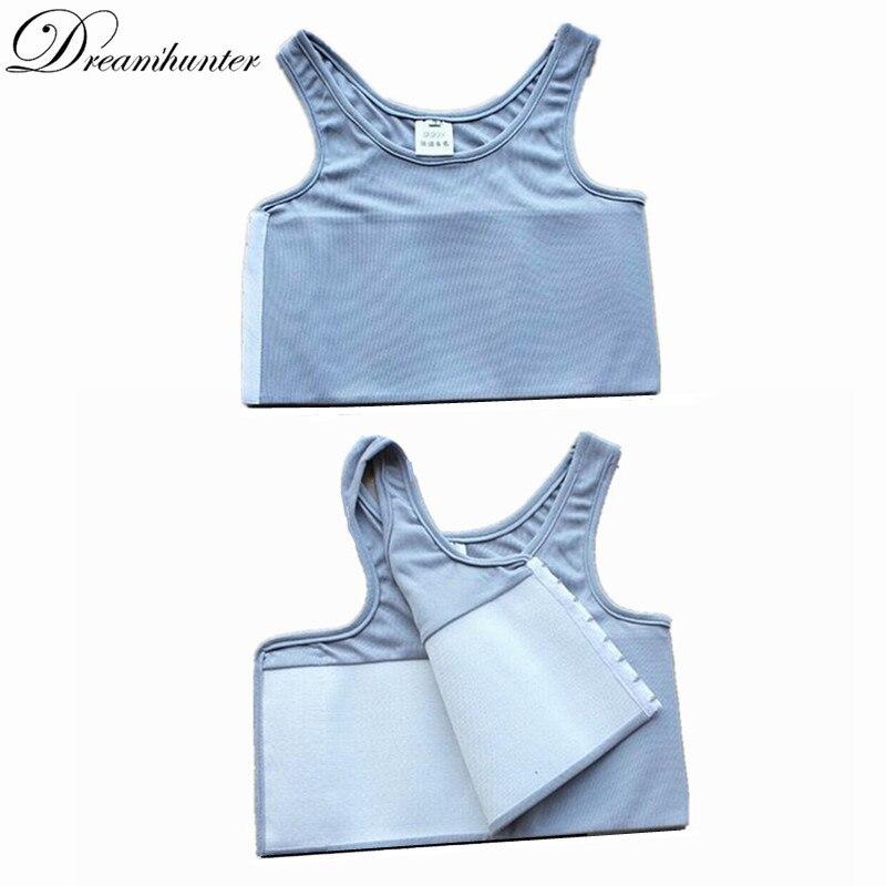 S-4XL Fortalecer Bandagem Reforçado Trans Vest Espartilho Curto Tomboy Regatas Shaper Peito Lésbica Fichário Mama Camisa Cueca