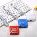 Ssk hot-venda colorido usb2.0 hub com estender 4 portas usb 0.6 m cabo para laptop desktop plug and play, suporte hot swapping