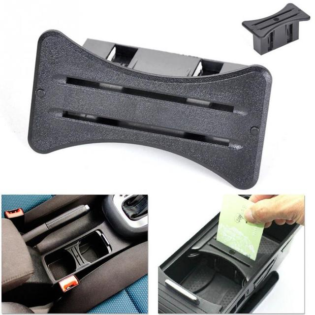 2018 Car Park Card Coin Slot Holder Center Console Card Holder Slot For VW Golf 7/6 GTI R20 Accessories