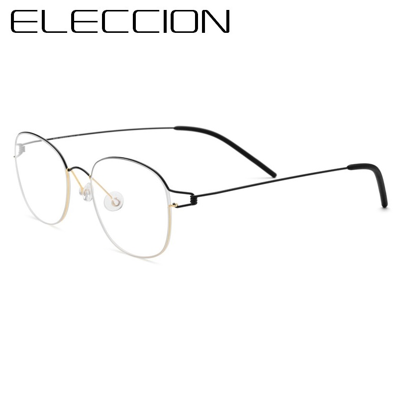 ELECCIÓN Ultraleve de Titânio Puro Coreano Rodada Óculos de Armação Homens  Óculos de Miopia Armações de 017222a701