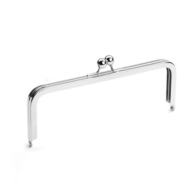 """Wholesale DIY Bag Handle Accessories 8"""" x 3""""  Purse Frame with Large Ball Clasp 50pc    (PURSE FRAME FRME)"""