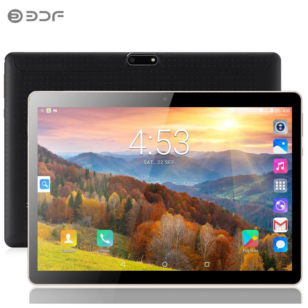 BDF 10 pulgadas Android 7,0 IPS pantalla 3G SIM Red de la tarjeta de 4GB + 64GB 1280x800 Octa Core Tablet llamada Duplicador de copiadora RFID de 10 frecuencias en inglés 125 Khz llavero lector NFC escritor 13,56 MHz programador cifrado USB UID Etiqueta de tarjeta de copia