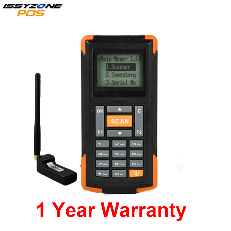 IssyzonePOS IWSI002 POS Terminal Handled Portable Wireless Bluetooth Data Collector 1D Barcode Scanner Reader for Warehouse 2d wireless barcode area imaging scanner 2d wireless barcode gun for supermarket pos system and warehouse dhl express logistic
