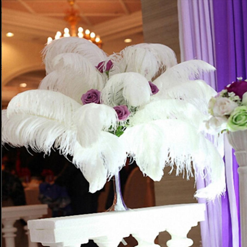 10 шт. перьев из страуса, натуральный центральный, 4 цвета, Рождественский домашний Свадебный декор