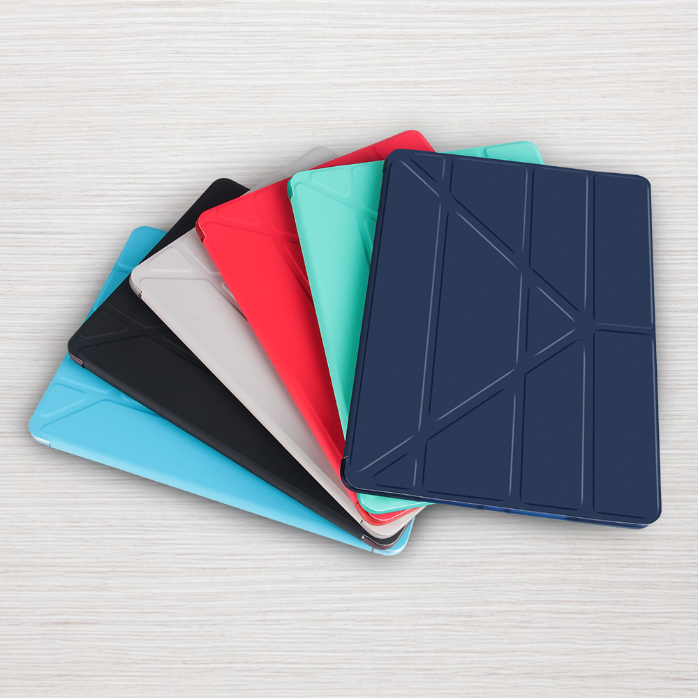 Case For Apple iPad air 2 PU Back Ultra Slim Light Weight soft protect Smart fold flip stand Cover Shockproof Case For iPad air2 ocube tri fold ultra slim tpu silicon back folio stand holder pu leather case cover for apple ipad 6 ipad air 2 9 7 tablet