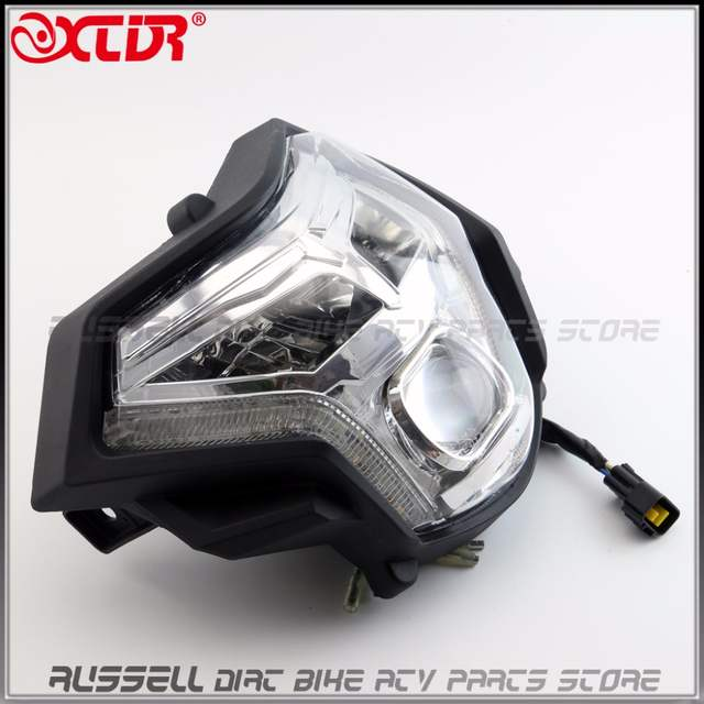 US $91 36 6% OFF|LED Headlight Lens Headlamp Signal Head light For ZONGSHEN  RX3 ZS250GY 3 Motorcycle 250cc Accessories Parts-in Side Lining from