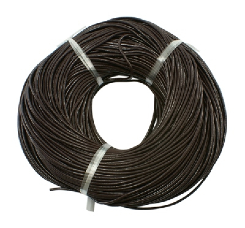 Pandahall Cowhide Leather Cord, Leather Jewelry Cord, Jewelry DIY Making Material, Round, 1.5mm