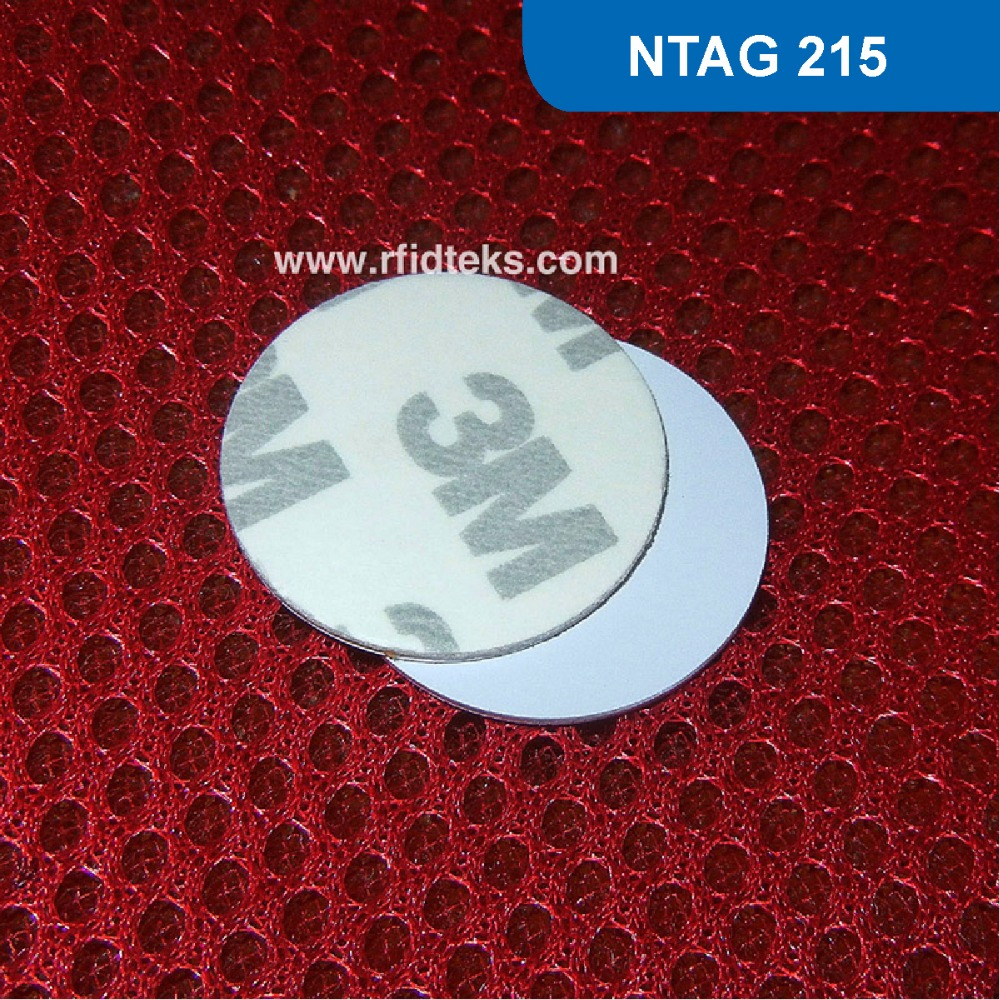 CT Dia 25mm RFID Tag with 3M Sticker RFID PVC Token NFC PVC tag for Mobile Phone 13.56MHz 504BYTES with Ntag 215 Chip 4pcs lot nfc tag sticker 13 56mhz iso14443a ntag 213 nfc sticker universal lable rfid tag for all nfc enabled phones dia 30mm