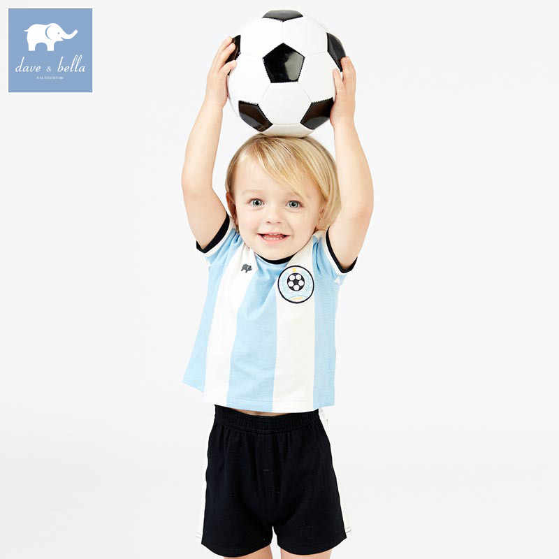 c394bed3b652 DB7612 dave bella summer baby boys striped clothing sets children sport suit  kid s high quality clothes