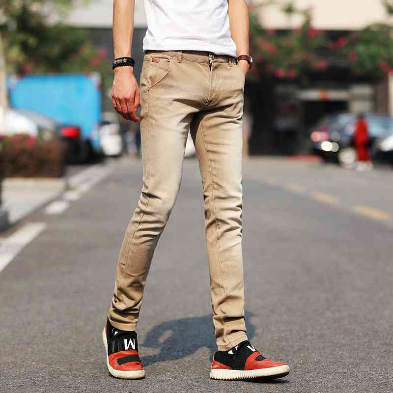 #1407 Colord Fashion Slim fit jeans Straight Denim Plus size Skinny Teenager Stretch jeans men Spring/Autumn 2018 Jeans hommes