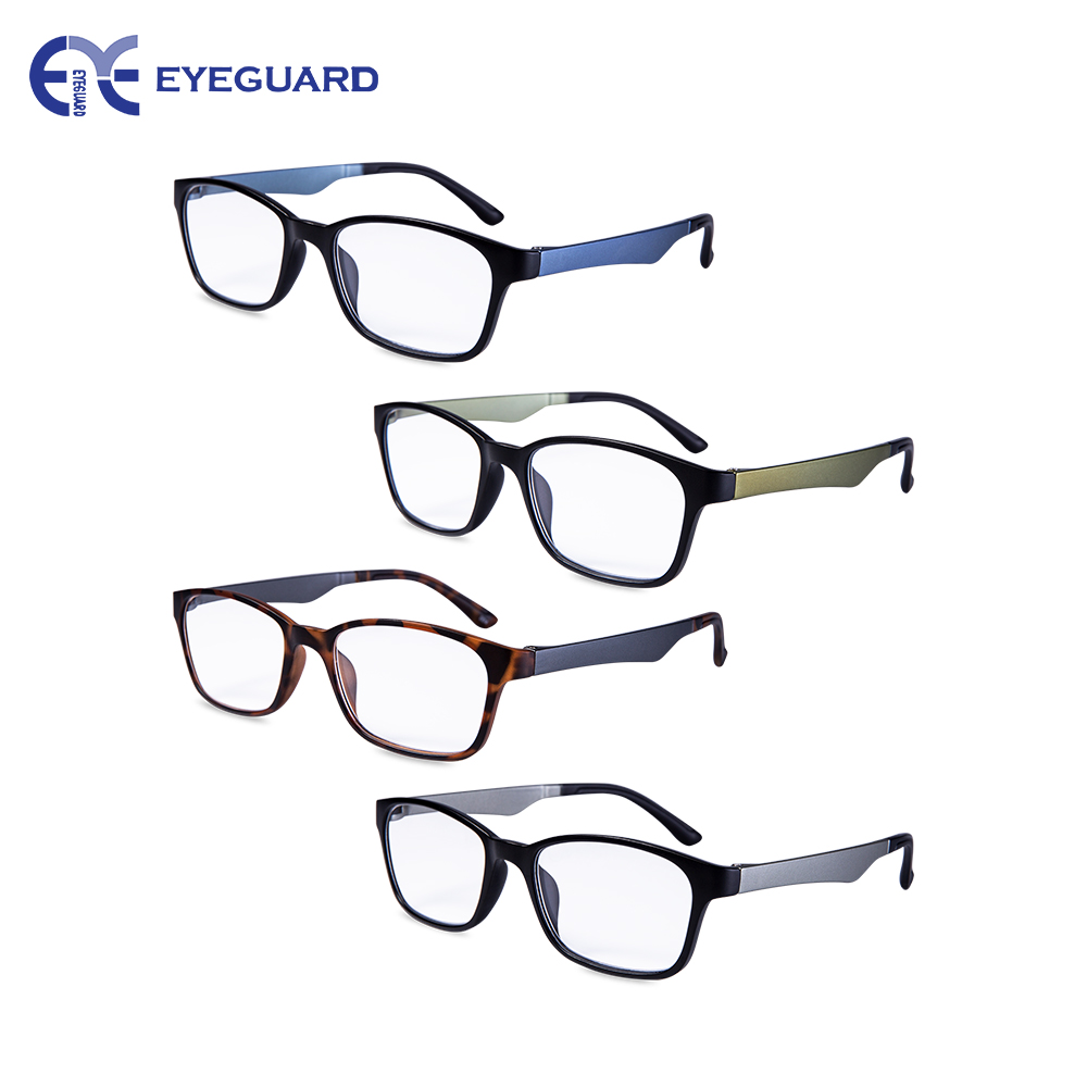 cfcee7eaef7 EYEGUARD Reading Glasses 4 Pack ultralight Specs Rectangular Quality  portable Fashion Men Readers -in Reading Glasses from Apparel Accessories  on ...