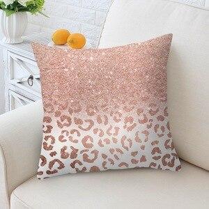 Image 5 - 홈 decortion 로즈 골드 베개 케이스 기하학 dreamlike 베개 폴리 에스터 던져 베개 커버