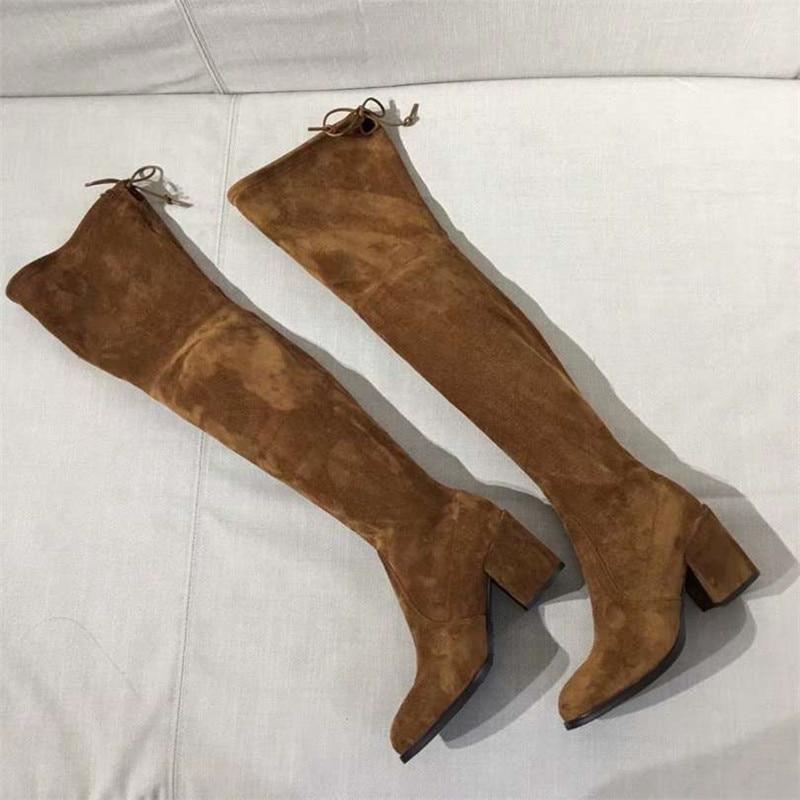 Zapatos Sobre Thich De Rodilla Runway Mujer Talones Muslo Stretch Alta Botas La As Pic Del Diseño as Tieland Mujeres Pic Bombas Z8nwpWdxOZ