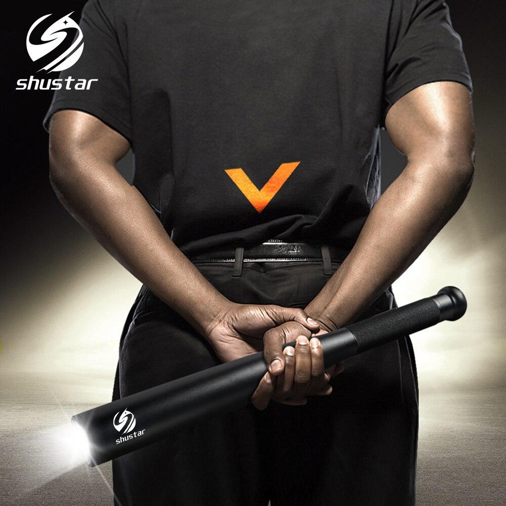 Baseball Bat LED Flashlight 2000 Lumens CREE XML-T6 Super Bright Baton Torch for Emergency and Self Defense