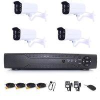 8CH 1080NH AHD DVR& 4 pcs 960P Metal Shell Waterproof Bullet AHD Cameras Home Surveillance AHD Camera Kit