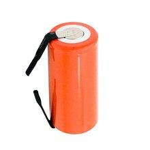 1 Pices/lote Laranja SC Ni-CD bateria 2800 mah substituição da bateria recarregável 1.2 V com guia um Cabo de extensão Processado