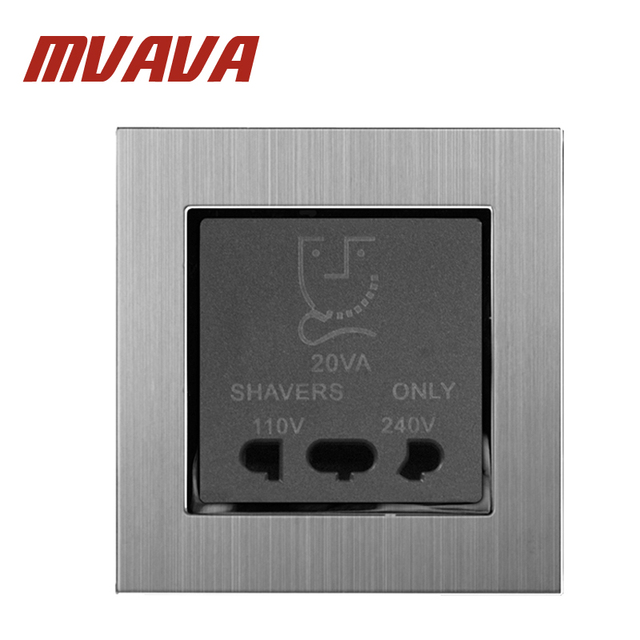 MVAVA Bathroom Electrical Wall Shaving Socket Dual Voltage 110V ...
