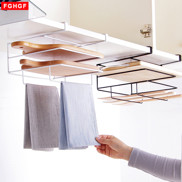 Genial Iron Multifunctional Pot Lid Shelf Holder Storage Tool For Kitchen  Organizer Towel Rack Cutting Board Storage