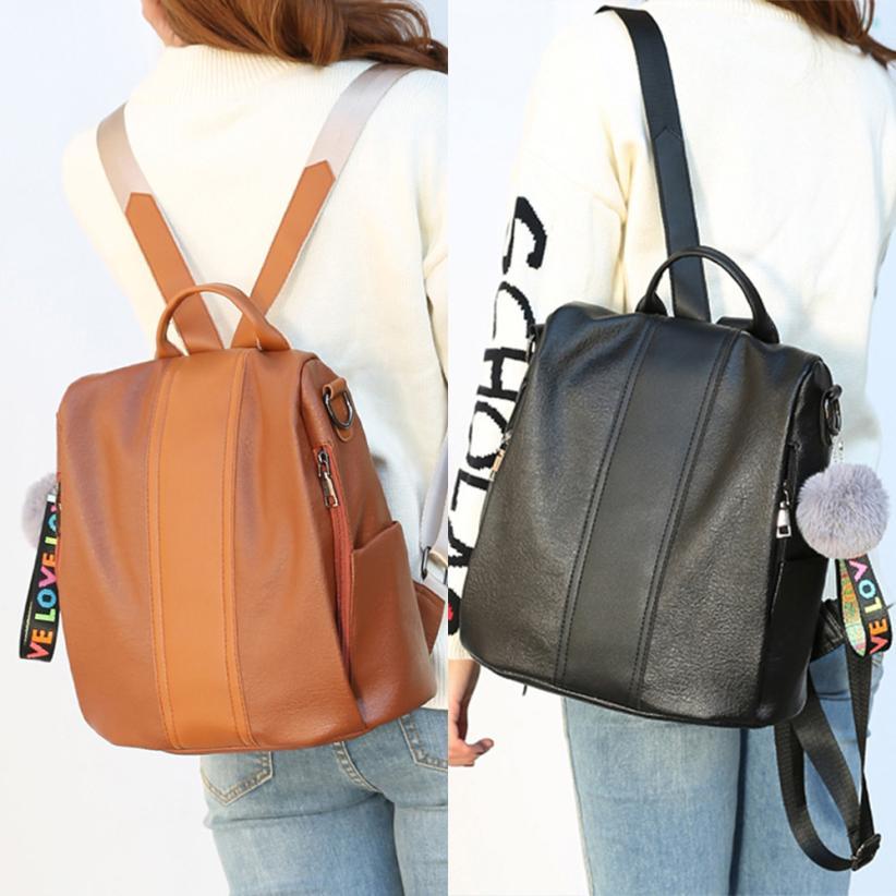 Molave Рюкзаки новые высококачественные кожаные модные плюшевые мяч молния плеча рюкзак дорожная письмо рюкзак женские mar26