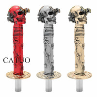 CATUO One Eye Skull Head Car Gear Shifter Knob 3D Carved Lengthen Manual Shifter Lever Knob Universal Car Interior Accessories